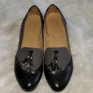 Naturalizer-Black & Grey Loafers